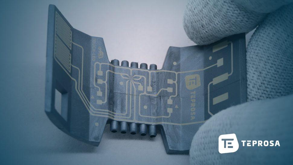 Laserdirektstrukturierung als Teilschritt der 3D-MID-Herstellung.