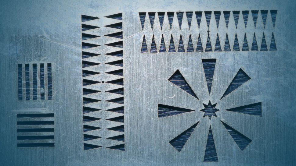Laserschneidmuster mit feinen Strukturen