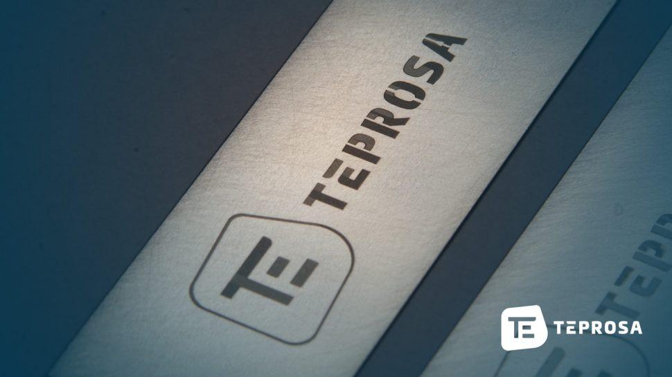 TEPROSA-Logo-Gravur-auf-Edelstahl