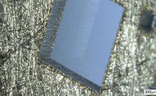Lasergeschnittener Verbundwerkstoff mit Nickelanteil