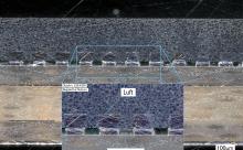 Schliffbild eines verfüllten QFN-Packages