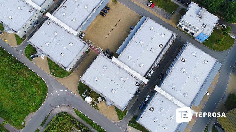 Luftaufnahme vom Firmenstandort der TEPROSA GmbH in Magdeburg
