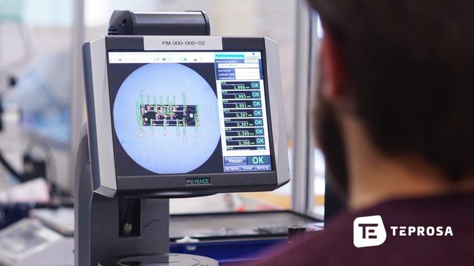 Qualitätskontrolle von Präzisionsteilen bei TEPROSA
