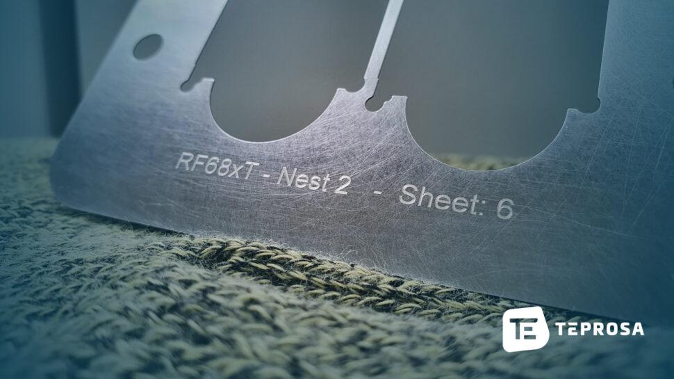 Kennzeichnung lasergraviert