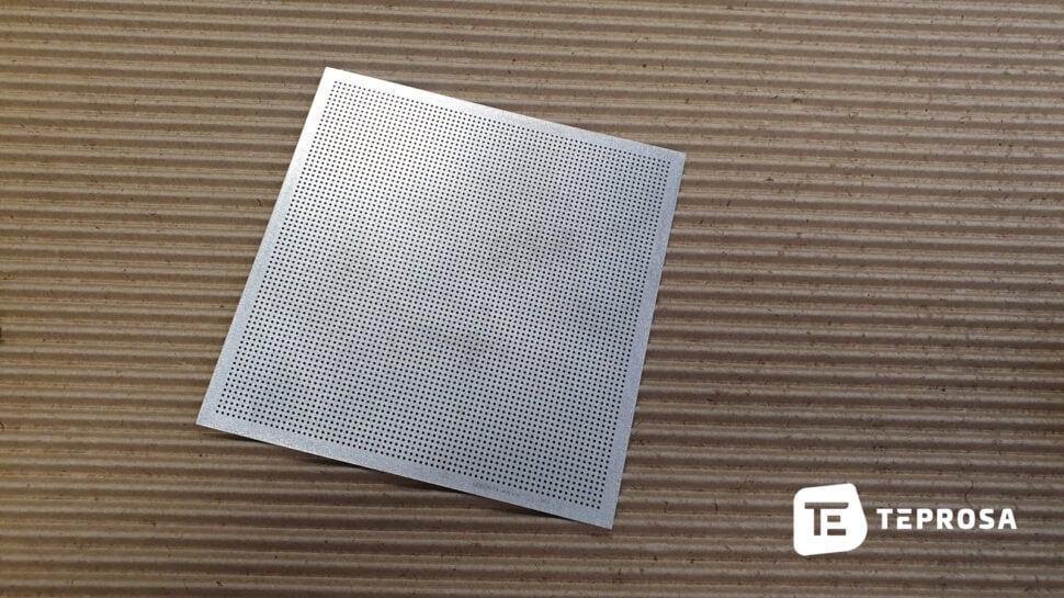 Beispiel lasergeschnittener Filter